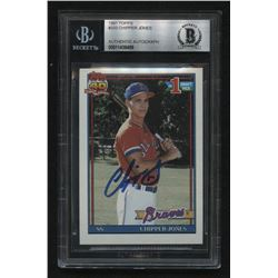 Chipper Jones Signed 1991 Topps #333 RC (BGS Encapsulated)