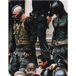 "Christian Bale  Tom Hardy Signed ""The Dark Knight Rises"" 11x14 Photo (PSA Hologram)"