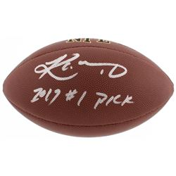 "Kyler Murray Signed NFL Football Inscribed ""2019 #1 Pick"" (Beckett COA)"