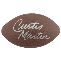 Curtis Martin Signed NFL Football (Beckett COA)