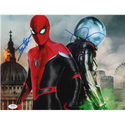 "Tom Holland  Jake Gyllenhaal Signed ""Spider-Man: Far From Home"" 11x14 Photo (PSA Hologram)"