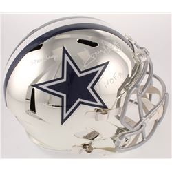 "Tony Dorsett Signed Cowboys Full-Size Chrome Speed Helmet Inscribed ""SBXII Champs"", ""ROY-77"",  ""HOF-"