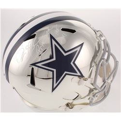 "Deion Sanders Signed Cowboys Full-Size Chrome Speed Helmet Inscribed ""Prime Time""  ""HOF 2011"" (Becke"