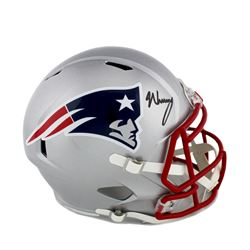 N'Keal Harry Signed Patriots Full-Size Speed Helmet (Radtke COA)