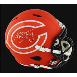 Mitchell Trubisky Signed Bears AMP Full-Size Speed Helmet (Fanatics Hologram)
