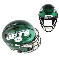 Curtis Martin Signed Jets Full-Size Authentic On-Field SpeedFlex Helmet with (5) Inscriptions (Radtk