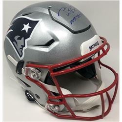 "Tom Brady Signed Patriots Full-Size Authentic On-Field SpeedFlex Helmet Inscribed ""Most SB TD's "" (T"
