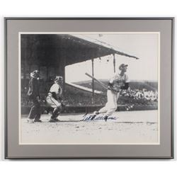 Ted Williams Signed Red Sox 20.25x24.25 Custom Framed Photo Display (Beckett LOA)