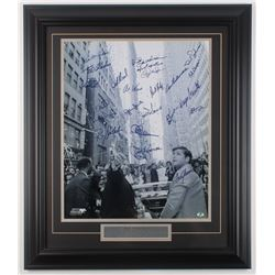1969 Mets World Series Champions 24.25x28.28 Custom Framed Photo Signed by (23) with Tom Seaver, Ron