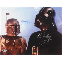 "David Prowse  Jeremy Bulloch Signed ""Star Wars"" 11x14 Photo Inscribed ""Darth Vader""  ""Boba Fett"" (Be"