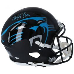 Christian McCaffrey Signed Panthers Full-Size Authentic On-Field AMP Speed Helmet (Fanatics Hologram