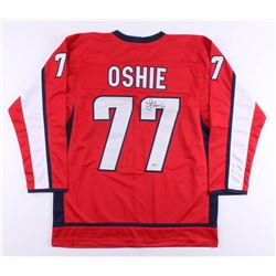 T. J. Oshie Signed Jersey (Beckett COA)