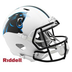 Panthers Full-Size Matte White Speed Helmet