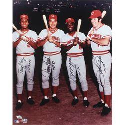 "Reds ""Big Red Machine"" 16x20 Photo Team-Signed by (4) with Tony Perez, Johnny Bench, Joe Morgan,  Pe"
