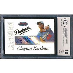 Clayton Kershaw 2007 Bowman's Best Prospects #BBP45 (BCCG 10)