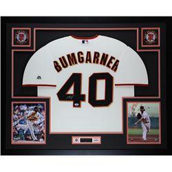Madison Bumgarner Signed San Francisco Giants 35x43 Custom Framed Majestic Jersey (PSA COA)