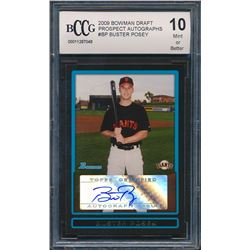 Buster Posey 2009 Bowman Prospects Autographs #BPABP (BCCG 10)