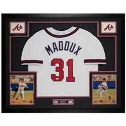 "Greg Maddux Signed 35"" x 43"" Custom Framed Jersey (JSA COA)"