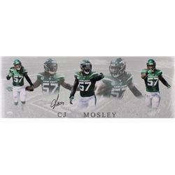 C.J. Mosley Signed Jets 10x28 Photo (JSA Hologram)