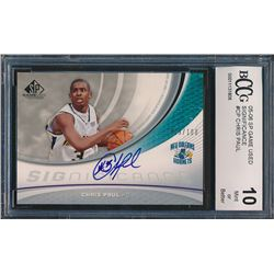 Chris Paul 2005-06 SP Game Used SIGnificance #CP (BCCG 10)