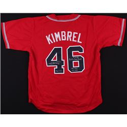 """Craig Kimbrel Signed LE Jersey Inscribed """"Rookie Saves Record 8-31-2011""""  """"155 Saves 06-06-2014""""  (R"""