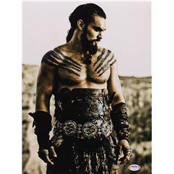 """Jason Momoa Signed """"Game of Thrones"""" 11x14 Photo (PSA Hologram)"""