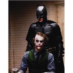 "Christian Bale Signed ""The Dark Knight"" 11x14 Photo (PSA Hologram)"