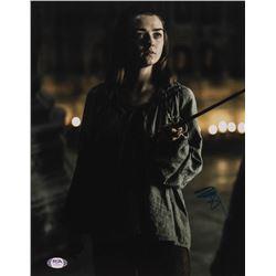 "Maisie Williams Signed ""Game of Thrones"" 11x14 Photo (PSA Hologram)"