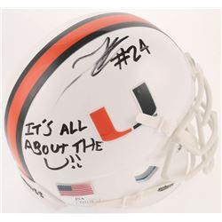 "Travis Homer Signed Miami Hurricanes Mini Helmet Inscribed ""It's All About The U!!"" (JSA COA)"
