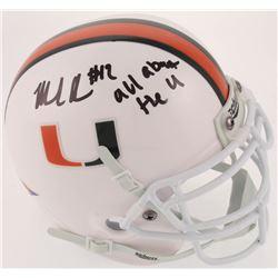 "Malik Rosier Signed Miami Hurricanes Mini Helmet Inscribed ""It's All About The U"" (JSA COA)"