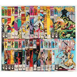 "Lot of (34) ""Wolverine"" 1st Series Marvel Comic Books"
