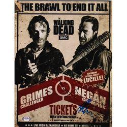"Andrew Lincoln  Jeffrey Dean Morgan Signed ""The Walking Dead"" 11x14 Photo (PSA Hologram)"