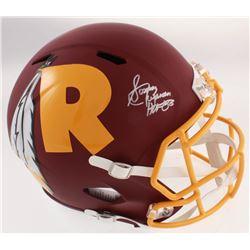 """Sonny Jurgensen Signed Redskins Full-Size AMP Alternate Speed Helmet Inscribed """"HOF 83"""" (Beckett COA"""