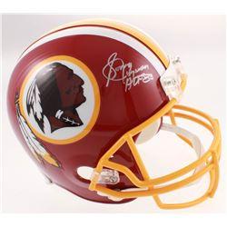 "Sonny Jurgensen Signed Redskins Full-Size Helmet Inscribed ""HOF 83"" (Beckett COA)"