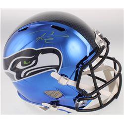 Russell Wilson Signed Seahawks Full-Size Chrome Speed Helmet (Wilson COA)