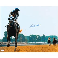 Ron Turcotte Signed 16x20 Photo with Secretariat (JSA COA)