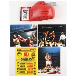 Lot of (5) Earnie Shavers Signed Items with (4) 8x10 Photos  (1) Everlast Boxing Glove with Muhammad