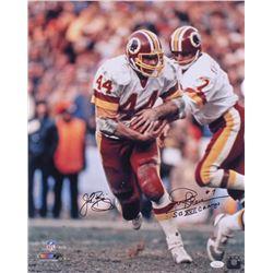 "John Riggins  Joe Theismann Signed Redskins 16x20 Photo Inscribed ""SB XVII Champs"" (JSA COA)"