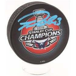 Tom Wilson Signed Capitals 2018 Stanley Cup Champions Hockey Puck (Fanatics Hologram)