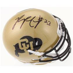 Phillip Lindsay Signed Colorado Buffaloes Mini Helmet (JSA COA)