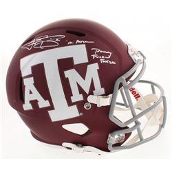 "Johnny Manziel Signed Texas AM Aggies Full-Size Speed Helmet Inscribed ""'12 Heisman""  ""Johnny F****n"