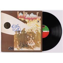 """Robert Plant  John Paul Jones Signed Led Zeppelin """"Led Zeppelin II"""" Vinyl Record Album Cover (JSA AL"""