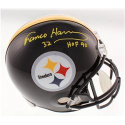 "Franco Harris Signed Pittsburgh Steelers Full-Size Helmet Inscribed ""HOF 90"" (Beckett COA)"