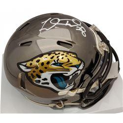 Fred Taylor Signed Jaguars Chrome Speed Mini Helmet (Beckett COA)