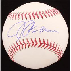 """Josh Donaldson Signed OML Baseball Inscribed """"Go Braves"""" (JSA COA)"""