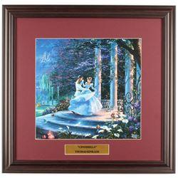 Thomas Kinkade Walt Disney's  Cinderella  18x18.5 Custom Framed Print Display