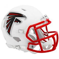 Falcons Matte White Speed Mini Helmet