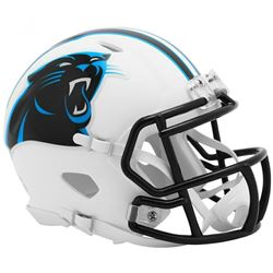 Panthers Matte White Speed Mini Helmet