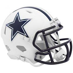 Cowboys Matte White Speed Mini Helmet