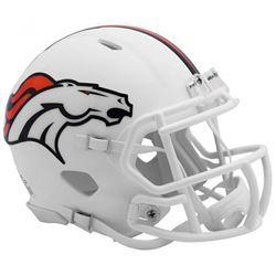 Broncos Matte White Speed Mini Helmet